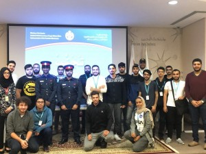 بناء على توجيهات مدير إدارة تنفيذ الأحكام بوزارة الداخلية تواصل الحملة التوعوية (تجنب) بمحاضرة في بوليتكنك البحرين