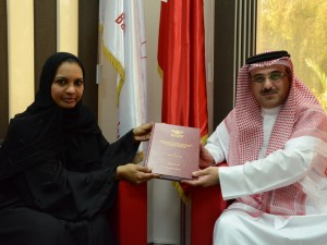 Student Presents Thesis about Bahrain Polytechnic