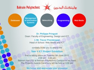 Year 4 Project Exhibition (School of ICT and Web Media)